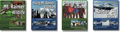 Mount Rainier Hiking, Climbing, Skiing, Wildlife Videos